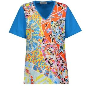 Emilio Pucci Printed Cotton-Jersey T-Shirt NWT